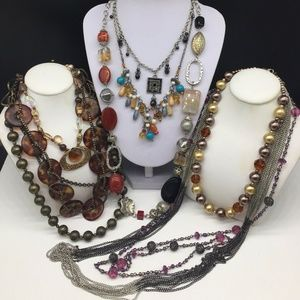 Premier Designs Necklace Jewelry Lot Of 8 Beaded +